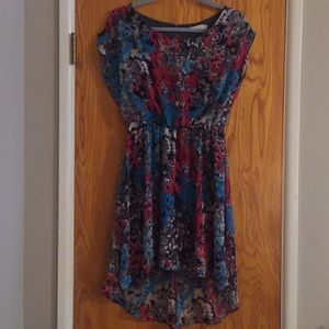 Multi colored height low Lush dress